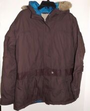 COLUMBIA Girls Youth Size 18/20 Brown Parka Coat Hooded Highly Water Resistant