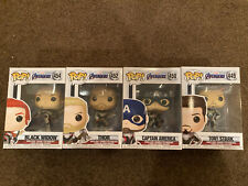 Avengers Endgame Set Four 4 Funkos Iron Man Captain America Thor Black Widow New