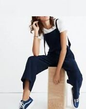 94896f13a187 Madewell Tie-Strap Overalls Jumpsuit Navy Blue Ribbed H8193 Bib S New Sold  Out