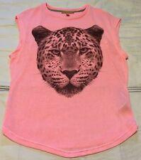 Zara Trafaluc Women's Pink Knit Cheatah Leopard Sleeveless Top Sz M