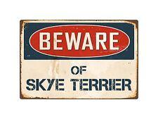 "Beware Of Skye Terrier 8"" x 12"" Vintage Aluminum Retro Metal Sign VS393"
