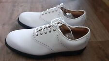 Footjoy Mens Myjoy Icon 8.5 White Golf Shoes 100% Waterproof *Brand New*