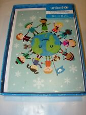 16 Christmas Cards & 17 Envelopes Unicef World Children Dog Peace Holiday 5X7