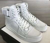 850$ Gucci White Leather High tops Sneakers Size US 11 Made In Italy