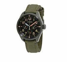 Citizen Eco-drive Chandler Men's Bu2055-16e Mulifunction Green Nylon 43mm Watch