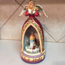 "Jim Shore - ""Silent Night� Angel With Nativity Scene.lighted/revolving/m usical"