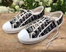 CHRISTIAN DIOR Blue/Beige Walk 'n' Dior J'adior Printed Jacquard Sneaker 40/10US