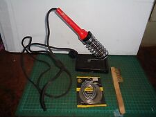 Vintage electric soldering iron, BIRKO brand, with solder & brush