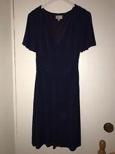KAREN MILLEN Navy Blue Knee Length Dress UK 10