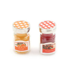 2pcs/lot Dollhouse Miniatures Jam Pretend Food Toy for Kitchen'Accessories L3s