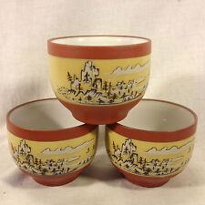 Japanese Zisha Tea Cups (set of 3)