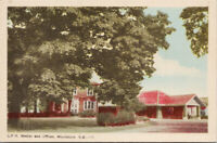 CPR station and Offices Woodstock NB New Brunswick Unused Postcard F2