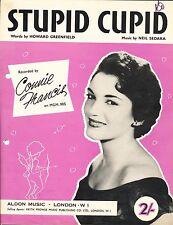 Stupid Cupid - Connie Francis - 1958 Sheet Music