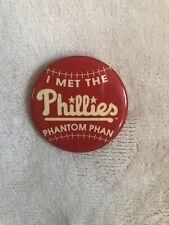 Vtg Philadelphia Phillies Button Pin Phantom Phan Baseball MLB