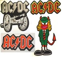 Embroidered ACDC ANGUS Logo Band Badge Rock Metal Heavy Iron Sew On Patch B21