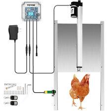 Automatic Chicken Coop Door Opener 12.6x11.8inch w 2 Remotes Light Sensor