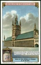 Ypres Belgium Town Hall 1920s Trade Ad  Card