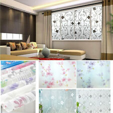 Static Cling Frosted Flower Glass Window Film Sticker Privacy Security Decor Usa