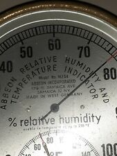 Vintage Humidity and Temperature Gauge