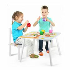 OWLS WOODEN TABLE & 2 CHAIRS CHILDRENS BEDROOM PLAYROOM FURNITURE