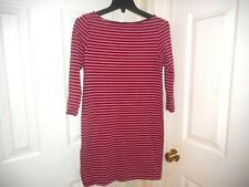 SIZE SMALL -H&M Women Burgundy Striped Dress