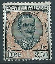 1926 REGNO FLOREALE 2,50 LIRE MNH ** - ED214