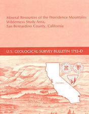 Gold near Baker, Calif, Providence Mtns, Mojave Desert, SCARCE report, sep map!