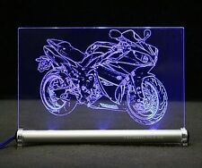 Yama R1 als Gravur auf LED- Leuchtschild Bike YZF motorcycle Motorrad