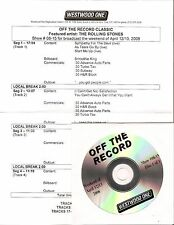 "Rolling stones ""off the record"" us radio show ww1 CD"