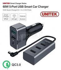 New Unitek Y P530a 5 Port Qc 3 0 60w Usb Car Charger Adapter