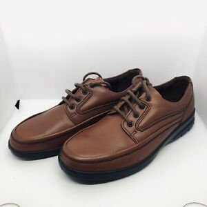 Padders Men's Size 9F Tan Lace Up 4 Eye Shoes Lightly Used VGC