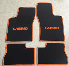 Autoteppich Fußmatten für Opel Kadett E Cabrio 1986-1993 schwarz-orange 4tlg Neu