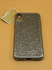 Michael Kors iphone X Snap-on Silver Studs Shimmer Case $65