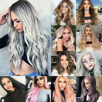9 Styles Black Red Brown Blonde Long Curly Straight Wavy Women's Fashion Wigs