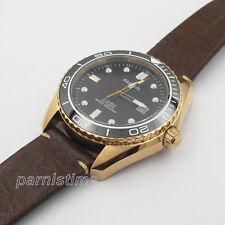 42mm Parnis 21 Jewels Automatic Boys Mens Watch Gold Case Luminous Mark Sapphire