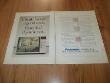 PANASONIC DIMENSION 4 MICROWAVE-1987 2 PAGE original advert