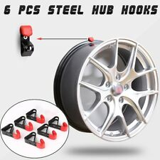 6 x Tire Wheel Rim Hub Hook Stand Rack Wall Mounted Display Hook Showroom