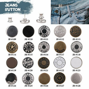 Perfect Fit Button Pins for Jeans Tool Free Jean Buttons Replacement Snap Crafts