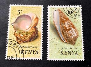 Kenya 🇰🇪 1971 - 2 used stamps Michel No. 48, 49