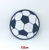 Football Soccer Logo Black and white Iron on Sew on Embroidered Patch applique