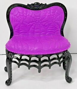 Monster High 2014 Social Spots Student Lounge Purple & Black Spider Web COUCH