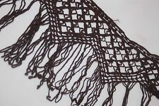 """Clearance $1 yard Chocolate Brown Cotton Venise Fringe sewing Trim 5"""" wide w29 a"""