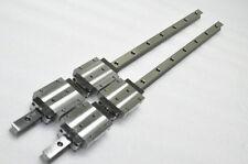 Bosch Lexroth Linear Bearing Lm Guide R16538 662mm 2rails 4blocks Thk Hsr20la
