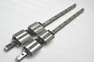 Bosch Lexroth Linear Bearing LM GUIDE R16538 662mm 2Rails 4Blocks, THK HSR20LA