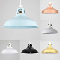 Modern 31cm Industrial Ceiling Pendant Light Shade Kitchen Lampshade + LED Bulb