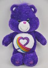 Care Bears Rainbow Heart Le 20017 Purple Sparkle 35 Anniversary Plush Glitter