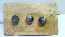 Antique Vintage KREISLER Deco NOS w/ defects 3 Stud Button Set on Card #Z402
