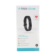 Fitbit - Alta HR Activity Tracker + Heart Rate (Small) - Black FB408SBKS New