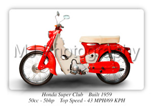 Honda Super Club Motorcycle A3 Size Print Poster on Photographic Paper