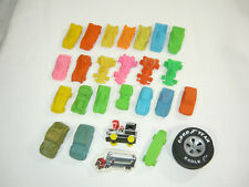 26 Vintage Rubber Erasers Matchbox Lesney Imperial Cars Racers Hopper Automobile